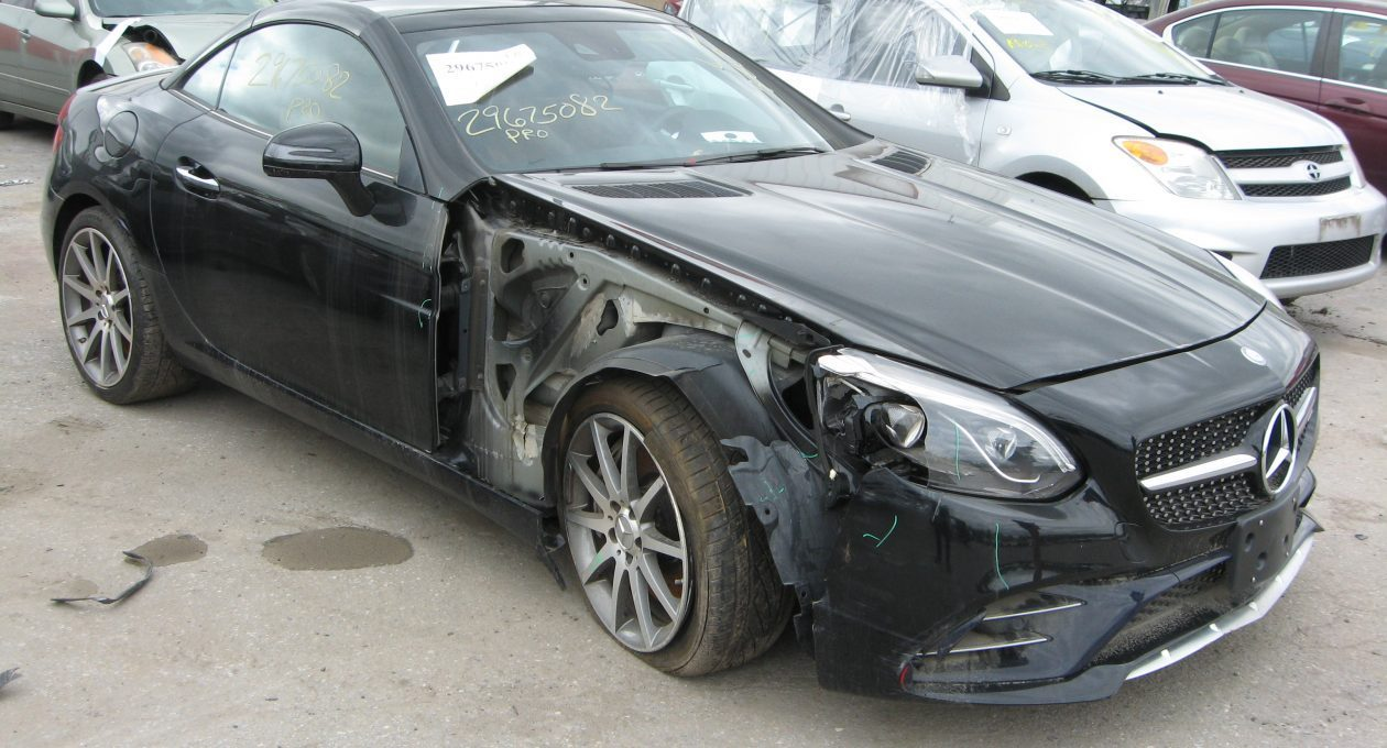 `17 Mercedes-Benz SLC 43 AMG Convertible: A Sadly Totaled Beauty!