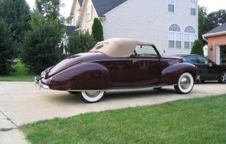 `38 Lincoln Zephyr Convertible Coupe — Just Plain Gorgeous!